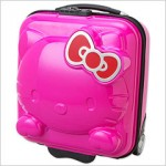 hello kitty luggage pink
