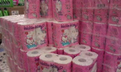 Hello Kitty pink bulk toilet paper