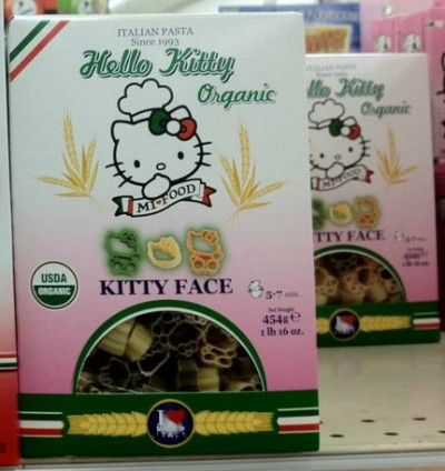 hello kitty organic pasta