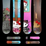 Hello Kitty Goodbye Kitty snowboards