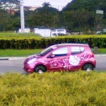 hello kitty car pink
