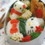 Hello Kitty snowman bento