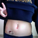 Hello Kitty waist tattoo