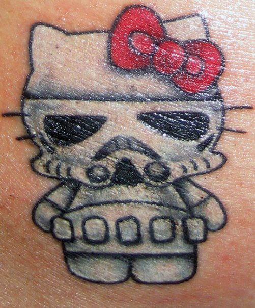 Hello Kitty Star Wars Tattoo