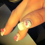 hello kitty fake finger nails