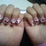 hello kitty nails bow