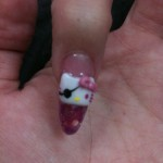 hello kitty pirate nail