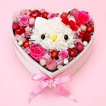 hello kitty bouquet heart
