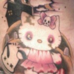 hello kitty pink zombie