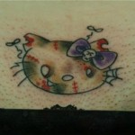 hello kitty zombie tattoo