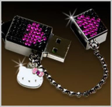 Hello Kitty Swarovski 1GB USB Memory Stick