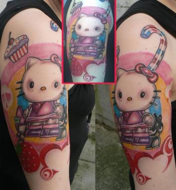 space tattoos. Thus I have been sent yet another Hello Kitty tattoo: