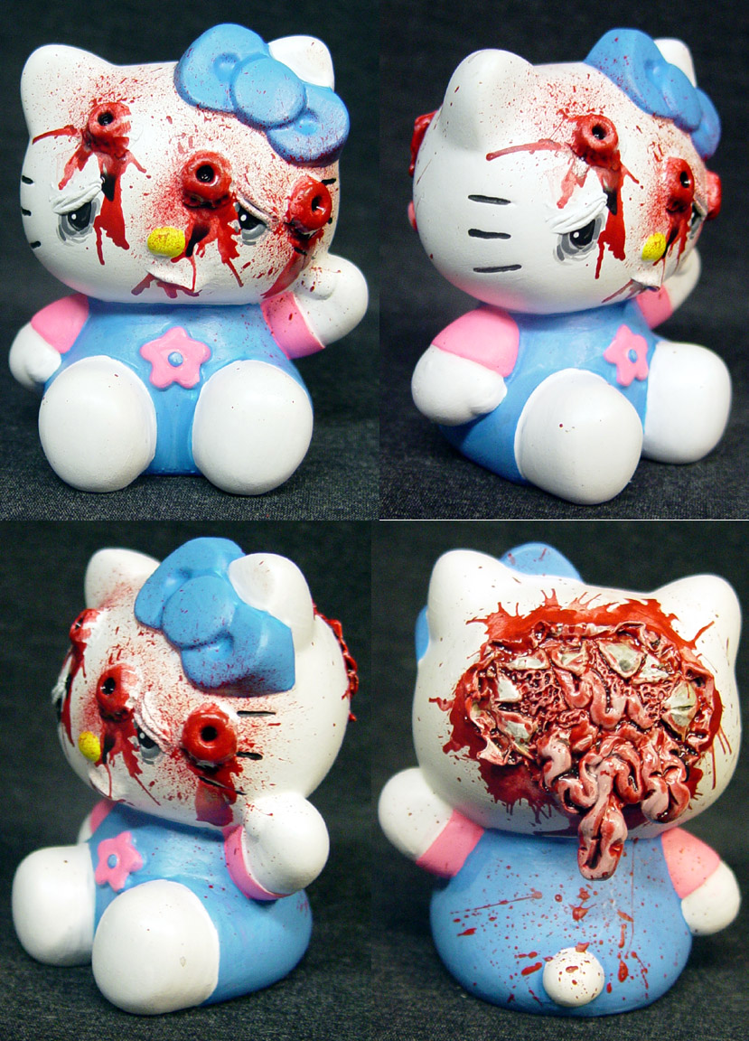 Hello Kitty blasted