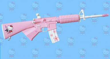 Hello Kitty AR15 Rifle