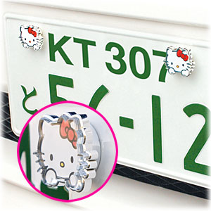 Hello Kitty license plate thingy