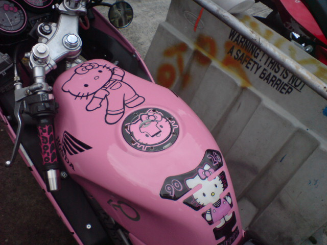 Hello Kitty Honda motorcycle