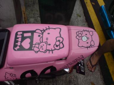 Hello Kitty Honda NSR motorcycle