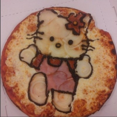 hello kitty pizza