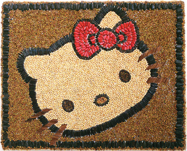 Hello Kitty seed art