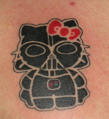 Hello Kitty Darth Vader tattoo