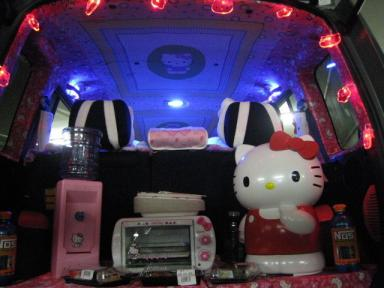 Hello Kitty Scion xB car