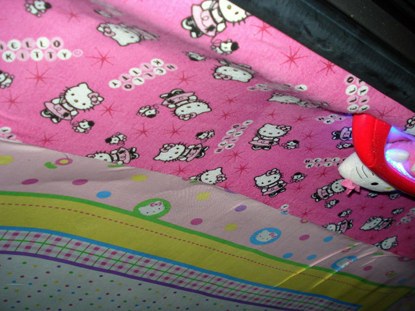 Hello Kitty Scion inside