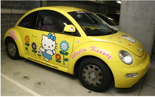 Hello Kitty VW Bug