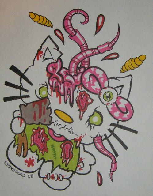 Hello Kitty zombie worms