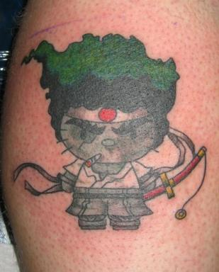 Hello Kitty Afro Samurai tattoo