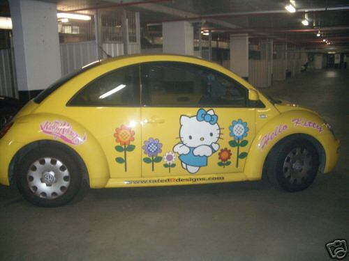 Hello Kitty Volkswagen Bug