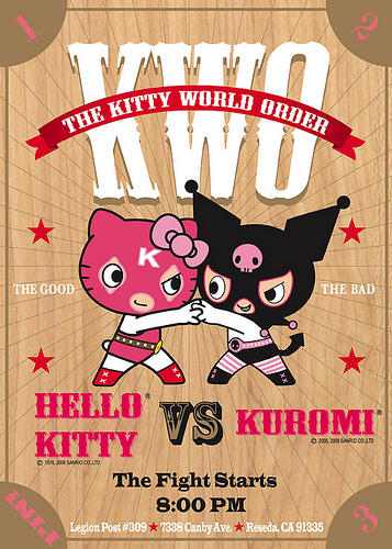 Hello Kitty pro wrestling