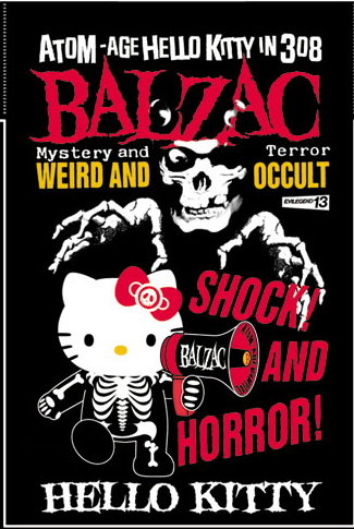 Yes, a Japanese horror punk rock band called balzac has adopted Hello Kitty