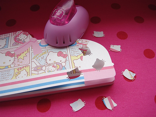Hello Kitty hole punch