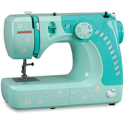 hello kitty sewing machine blue