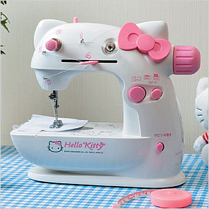 Hello Kitty face sewing machine