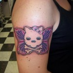 hello-kitty-skull-butterfly-tattoo