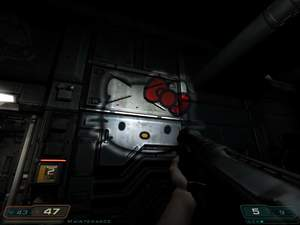 Hello Kitty Doom flashlight mod