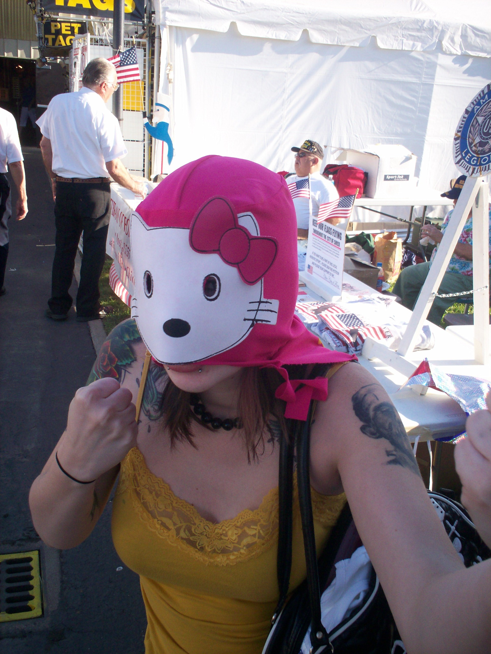 Hello Kitty Mexican wrestling mask