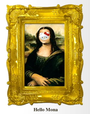 Hello Kitty Mona Lisa