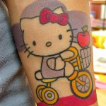 hello-kitty-tricycle-tattoo