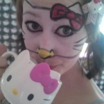 Hello Kitty face paint mask