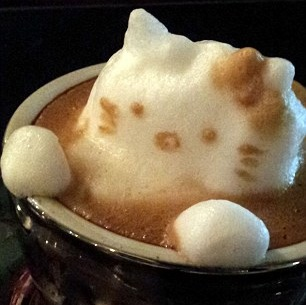 Hello Kitty latte coffee