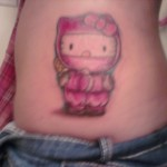 hello kitty pink ninja tattoo