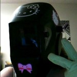 hello kitty welding helmet