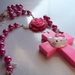hello kitty cross necklace