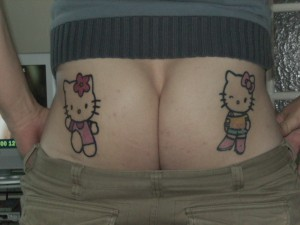 Hello Kitty cheeky tattoo 2