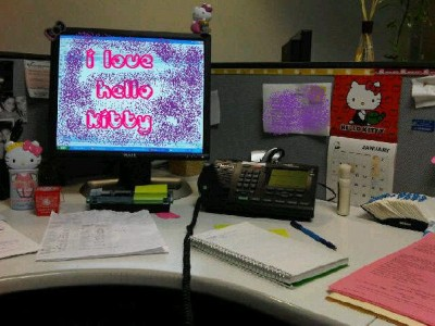 hello kitty cubicle