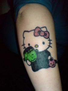 Hello Kitty Halloween tattoo