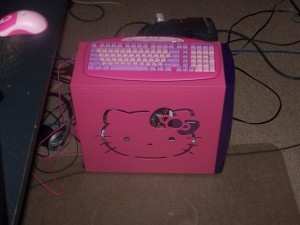 Hello Kitty case mod