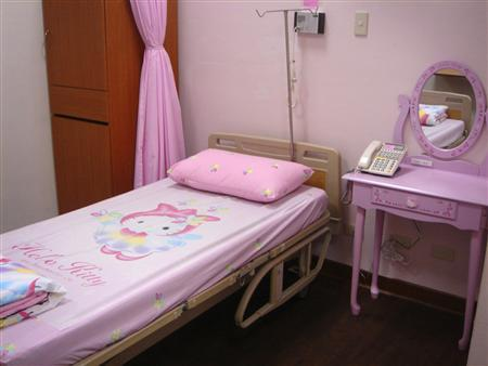 Hello Kitty hospital room